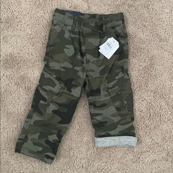 NWT BABY GAP BOYS SHORTS twill camo camouflage     18-24 months 24M
